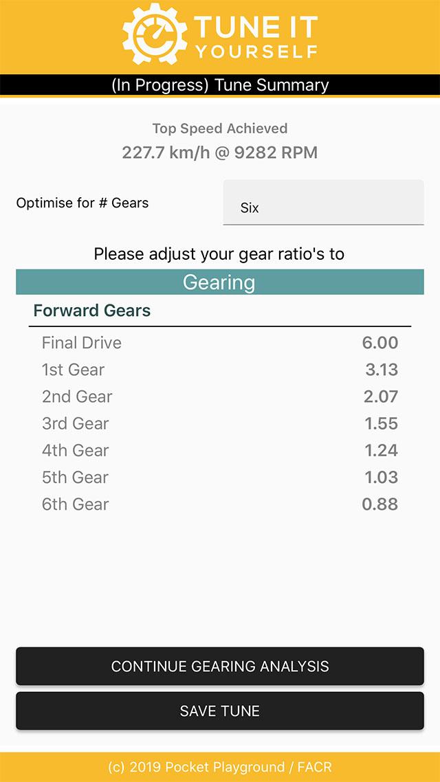 Gear Tuning