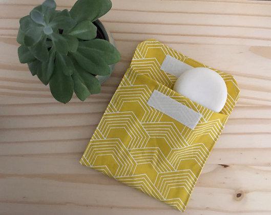 Pochette à savon - jaune