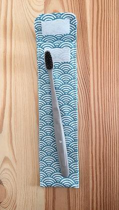 Etui à brosse à dents - motif sushi bleu