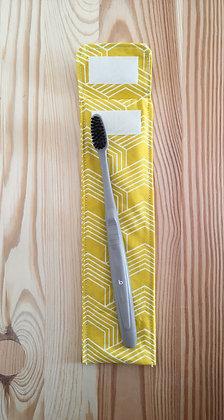 Etui à brosse à dents - jaune