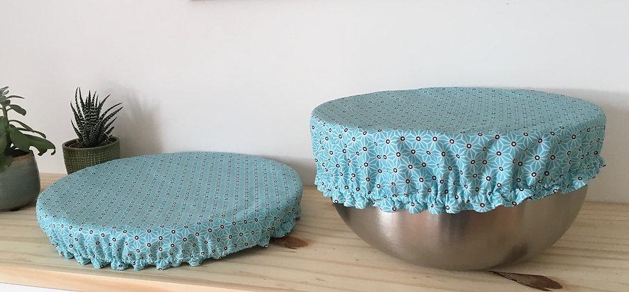Couvre-plat réversible - grande taille - bleu et bleu
