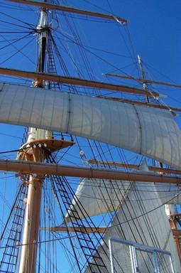 Here are the sails of the Star of India,