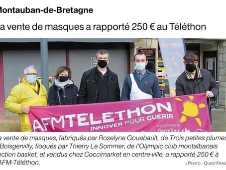La CTC Montauban / Boisgervilly / Médréac soutient le Téléthon 👏