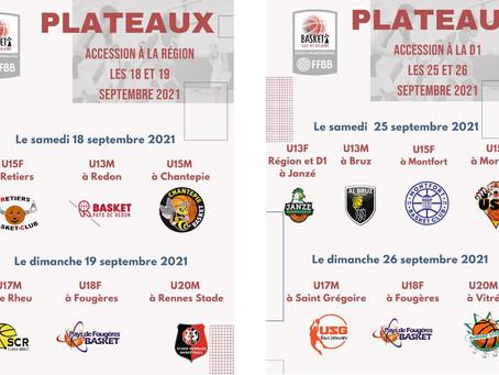 Les Plateaux Qualificatifs 5X5 du début de saison