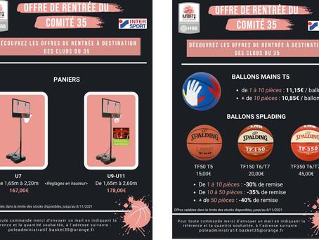 🏀 Les Offres de rentrée du Comité 35 de Basketball 🏀