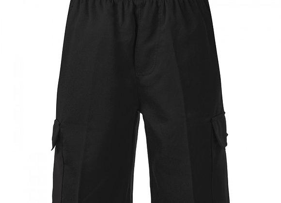 Boys Cargo Shorts - Black
