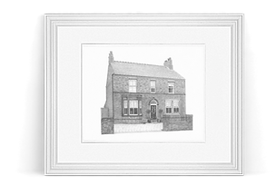 Frame with shadow (homes) (Portrait size