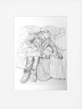 David sketch (watermarked in mount).jpg