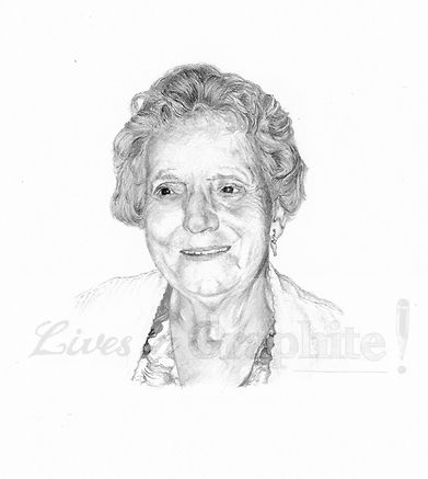 Pencil portrait art commissions by artist Mara Shaw of Lives in Graphite in England. Photo-realistic, hand drawn pencil portraits of people, pets, homes, weddings, occasions from photographs.