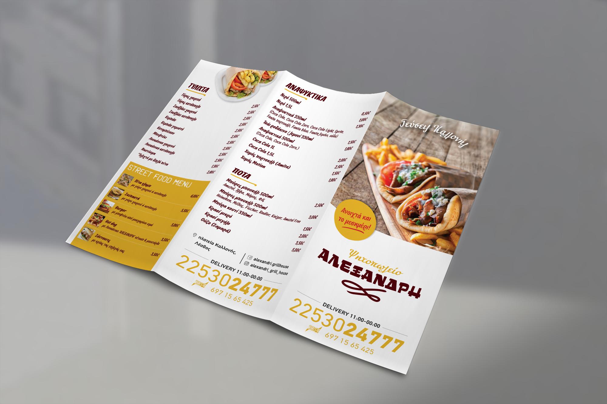 Tri Fold Delivery Leaflet Alexandris