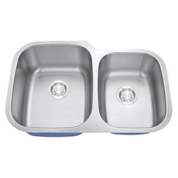 "60/40 Basic Stainless Steel Undermount Sink 9"" Depth"