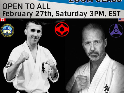 ZOOM Session IFK Canada & Kyokushin-kan USA
