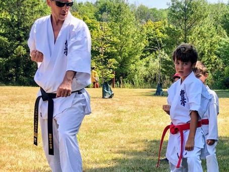 Summer Karate Testing