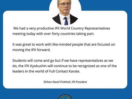 IFK World Country Representatives Meeting 2021