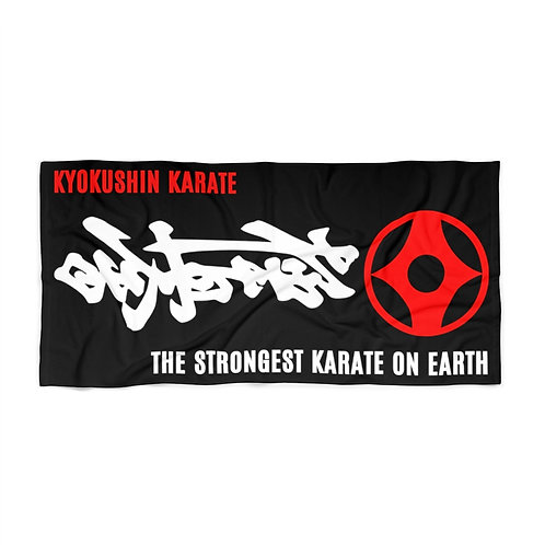 Kyokushin Beach Towel -Black