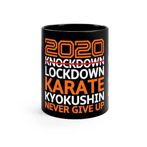 2020 Lockdown Karate - Black Mug 11oz