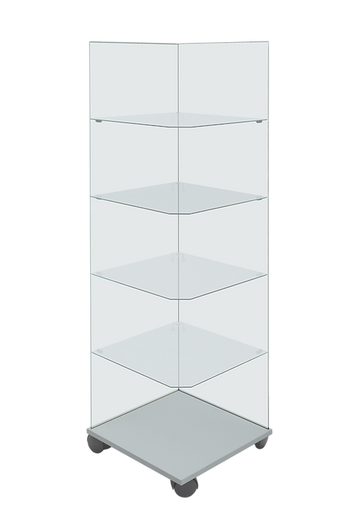 Angolo aperto 45 x 45 x 148 cm.
