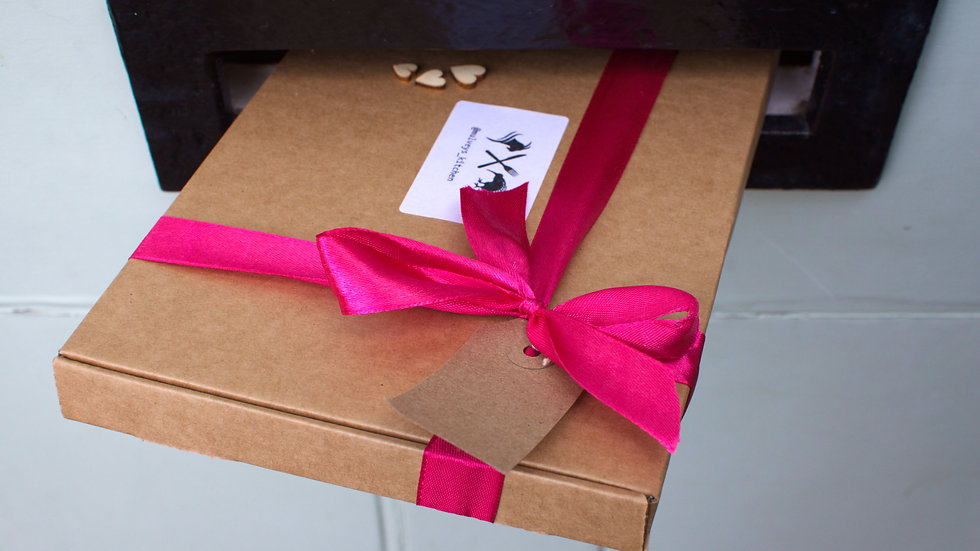 Gift wrapping and Handwritten note card