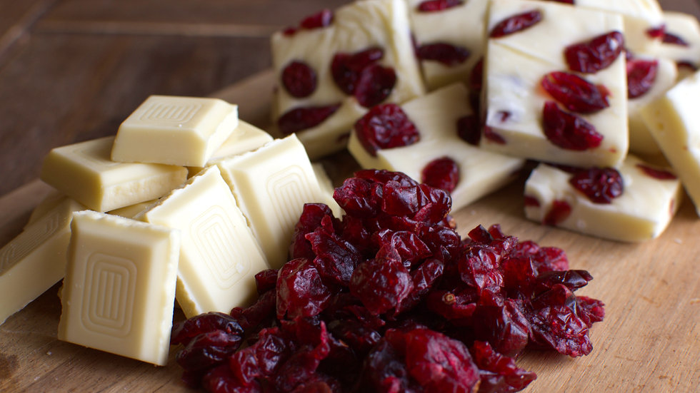 White chocolate and cranberry