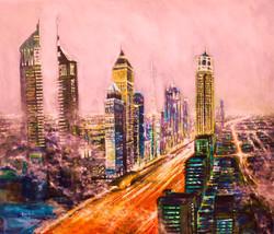 Dawn in Sheikh Zayed (1m x 1.3 m) Acrylic on Canvas 2.8.13
