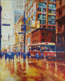 After Work Rush Hour, Acrylic on Canvas