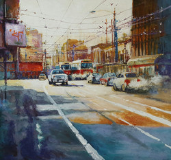 Toronto Traffic Jam, Acrylic on Canvas