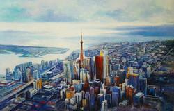 From the sky, Acrylic on Canvas