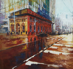 Reflecting Through, Acrylic on Canvas