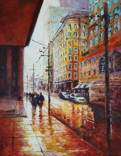 Afternoon walks, Acrylic on Canvas
