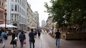 Gamle Arbat er måske Moskvas sjoveste og festligste gågade