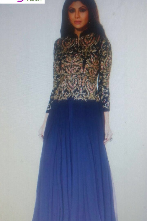 gown styled anarkali