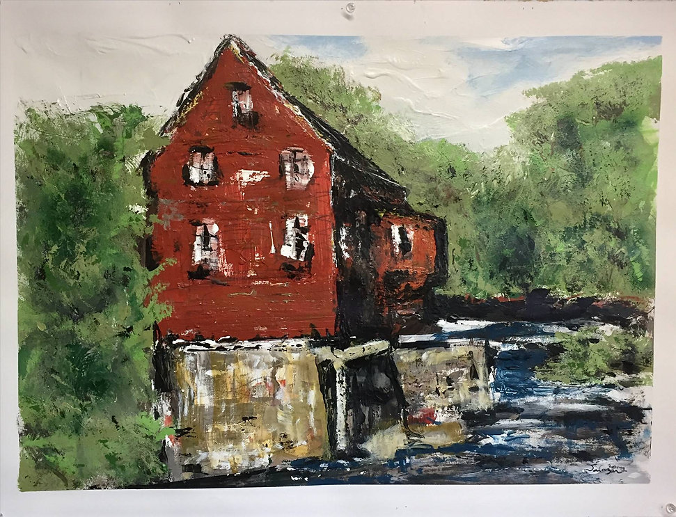 Salazar_Country Grist Mill_Mixed_30 X 22