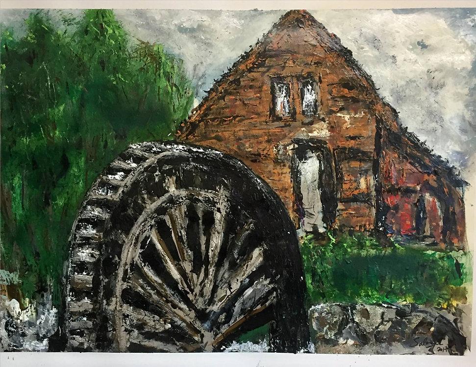 Salazar_Old Mill Wheel_30 X 22_2017_$425