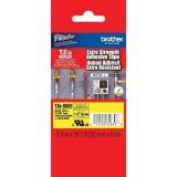 "Brother TZeS661 36mm (1.4"") Black on Yellow Tape with Extra Strength Adhesive, 8"