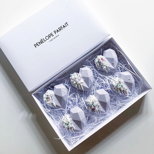 Geo Cake Hearts Gift Box