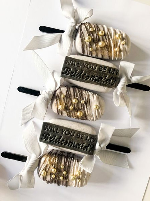 Will you be my Bridesmaid? Cakes Popsicle Gift Box