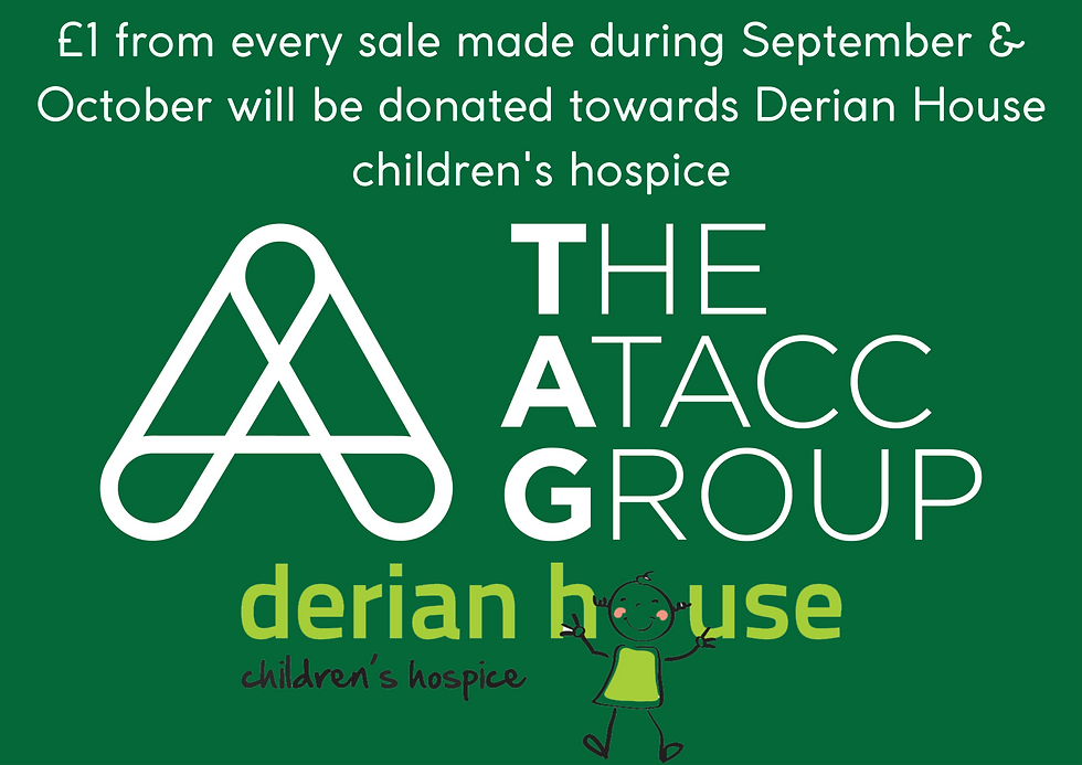 £1 from every sale made during September & October will be donated towards Derian House ch