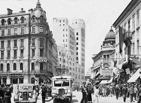 """The Telephone Palace Skyscraper: """"A shadow of Broadway on Calea Victoriei"""""""