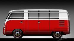 Retro Splitwindow Bus Samba