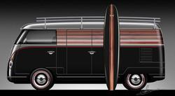 Retro Splitwindow Bus Surfer