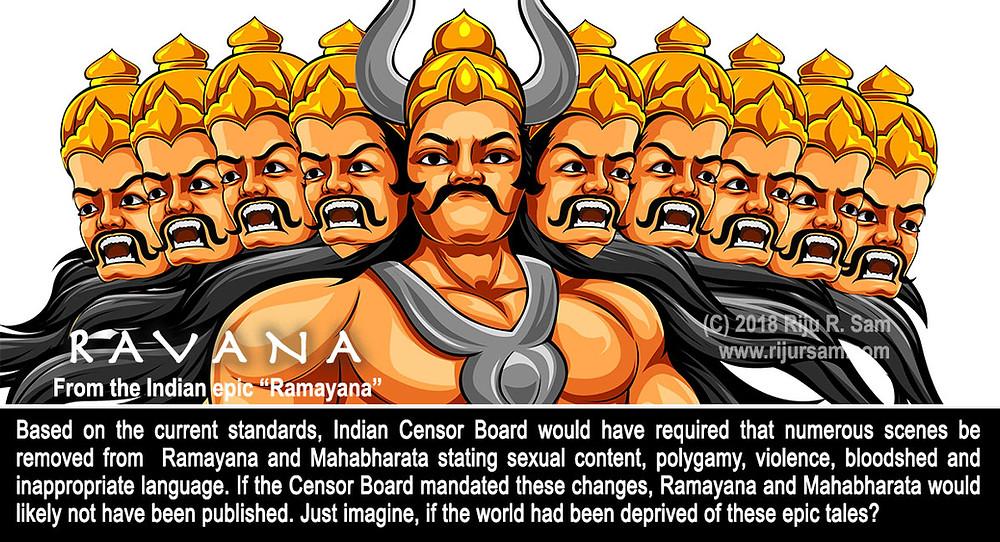 Ravana in Ramayana