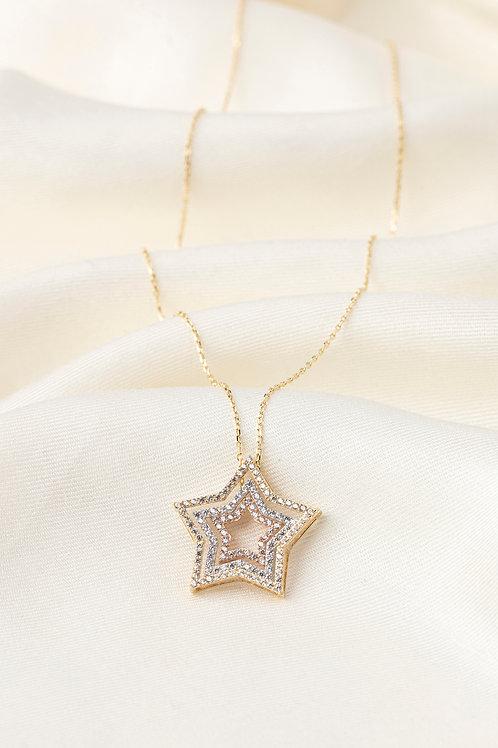 Kristal Taşlı Kolyeler-Star Afel