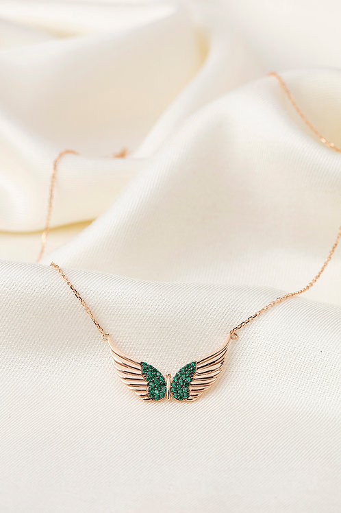 Renkli Taşlı Kolyeler-Green Angel
