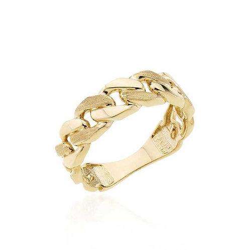 14 Ayar Altın Zincir Yüzük