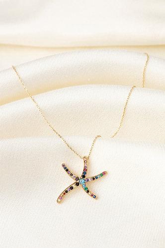 Renkli Taşlı Kolyeler-Starfish