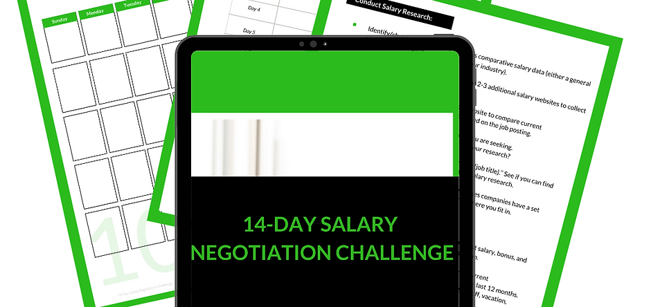 14 Day Salary Negotiation Challenge