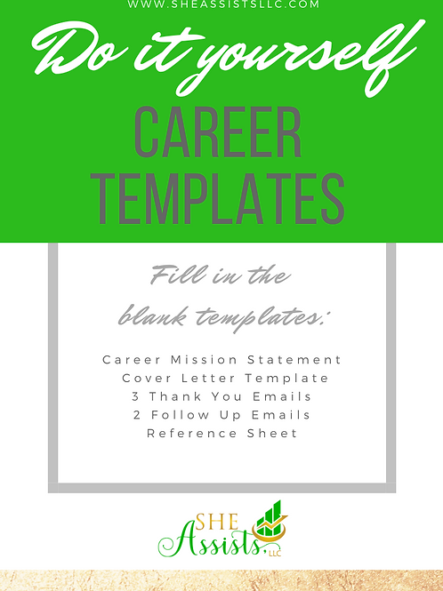 Do it Yourself Career Templates