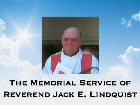 Pastor Jack Lindquist Memorial Service