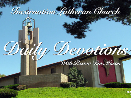 Daily Devotions - January 8th, 2021