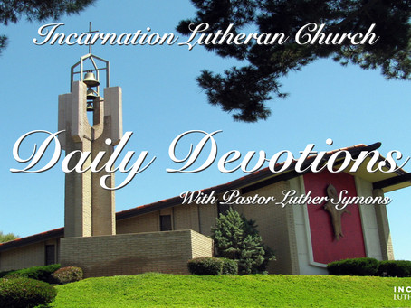 Daily Devotions - January 14th, 2021